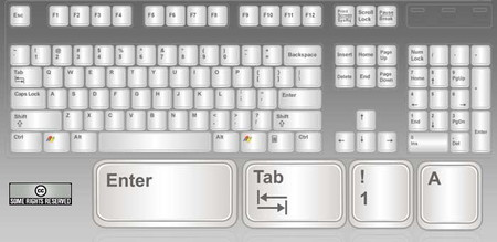 PC Keyboard Key Icons Set